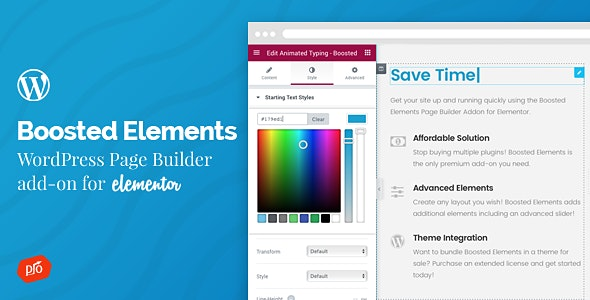 Boosted element elementor plugin