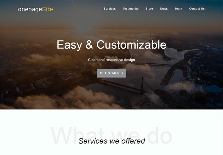 One Page Site - thème WordPress pour site de business