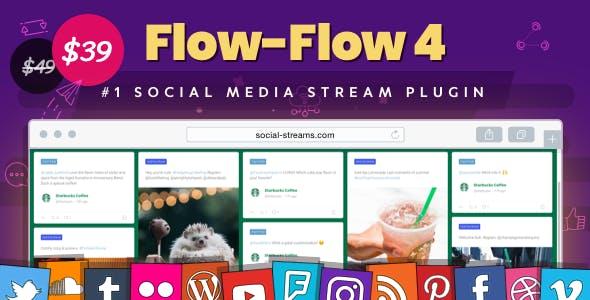 meilleurs plugins WordPress de partage social - Flow flow 4