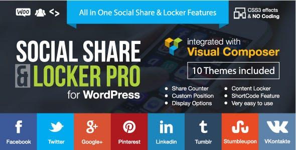 meilleurs plugins WordPress de partage social - Social share locker