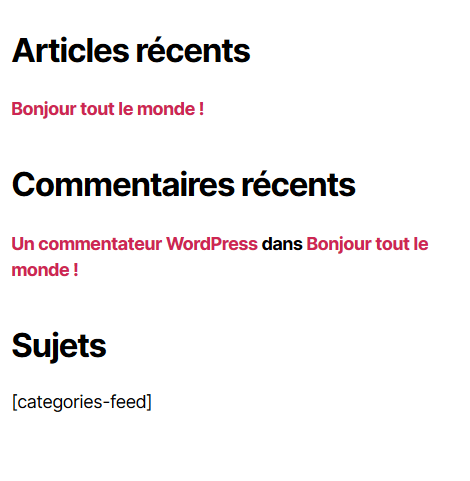 Comment utiliser shortcodes widgets wordpress blogpascher 1