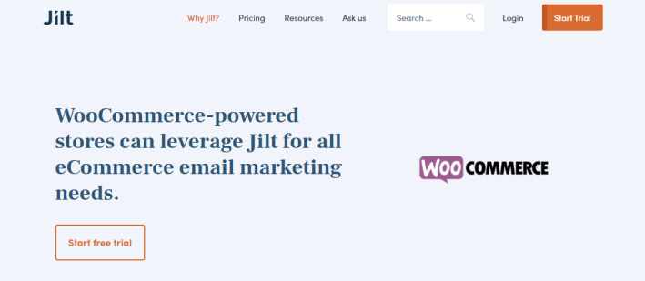 Jilt plugin wordpress woocommerce ecommerce email marketing