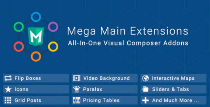 Mega main extensions all in one visual composer addons