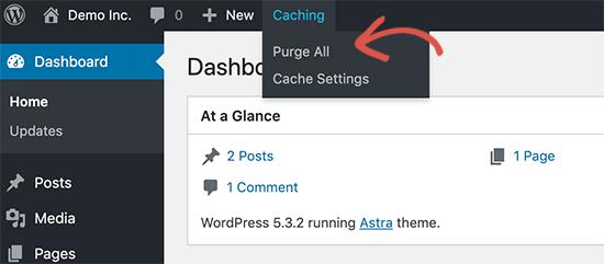 comment-effacer-mise-en-cache-wordpress