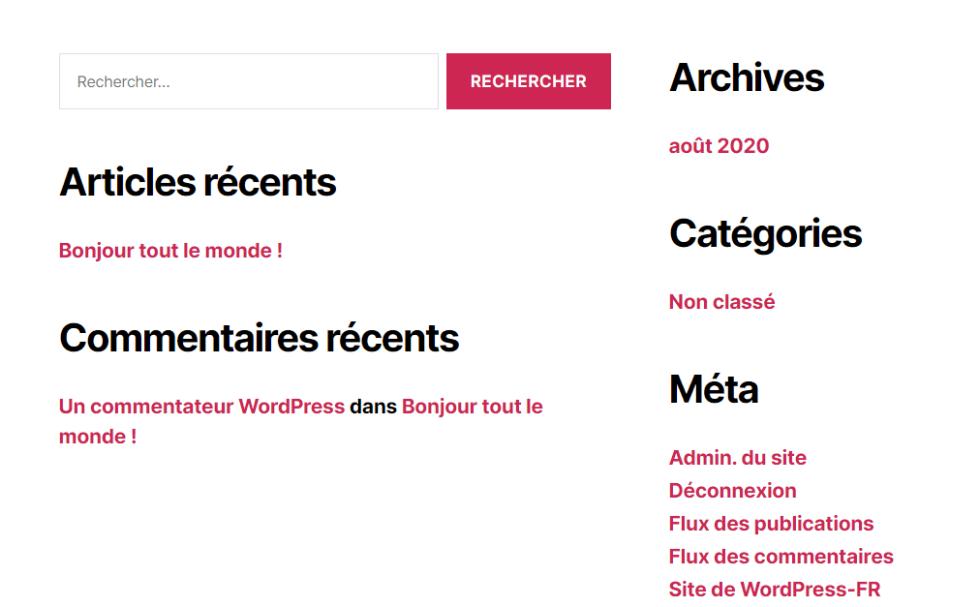 Comment masquer widget wordpress blogpascher 6