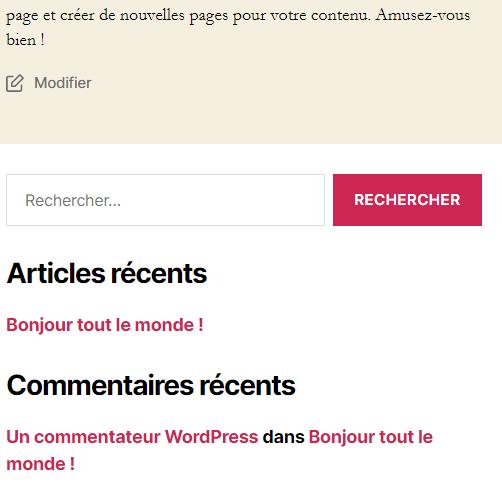 Comment masquer widget wordpress blogpascher 7