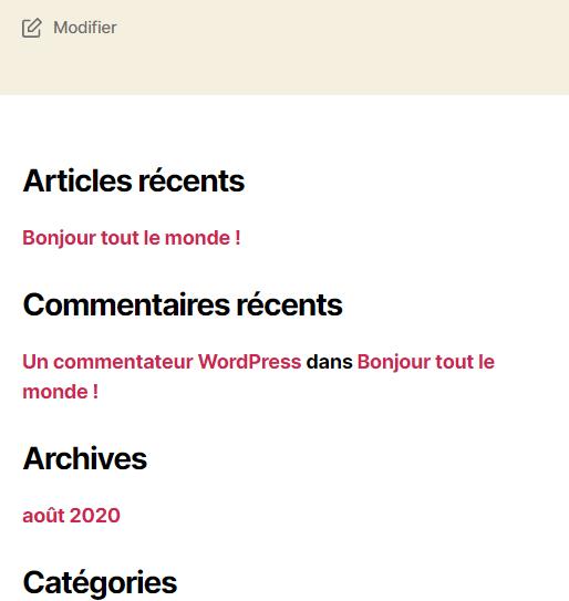 Comment masquer widget wordpress blogpascher 8