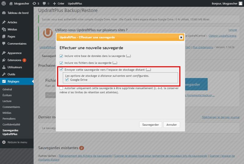 Comment sauvegarder site web wordpress avec sans plugins 7