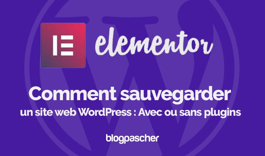 Comment Sauvegarder Site Web Wordpress Avec Sans Plugins