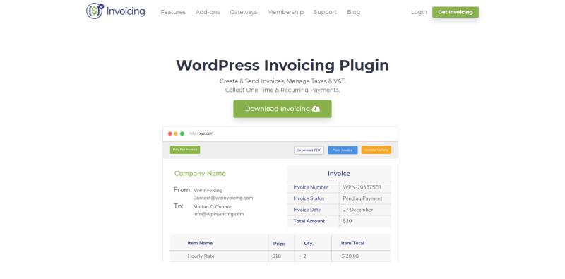 Meilleurs plugins wordpress authorize net blogpascher invoicing