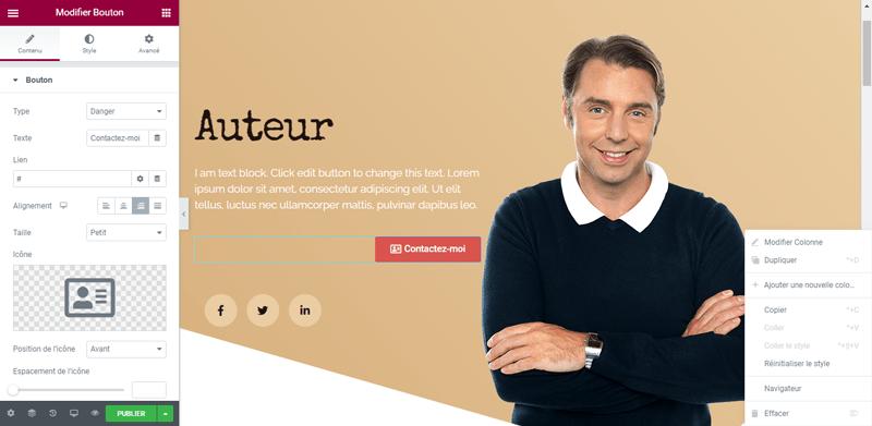 Elementor personnaliser page blogpascher