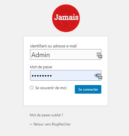 evitez admin comme nom utilisateur wordpress