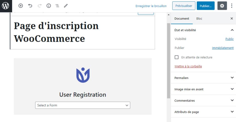 Remplacer formulaires defaut connexion inscription woocommerce 2