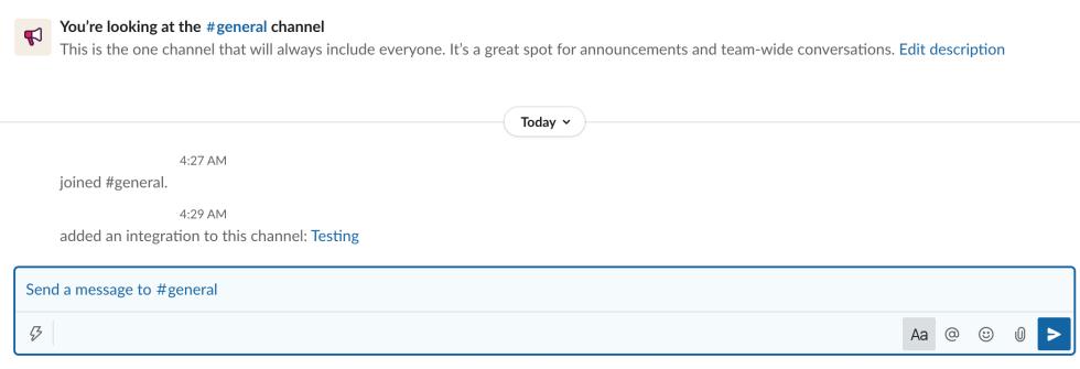 Notifications Slack publiées sur la plateforme de communication Slack.
