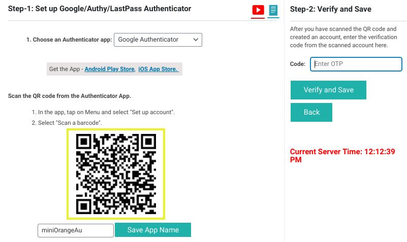 Le QR Code à scanner dans le plugin WordPress Google Authenticator.