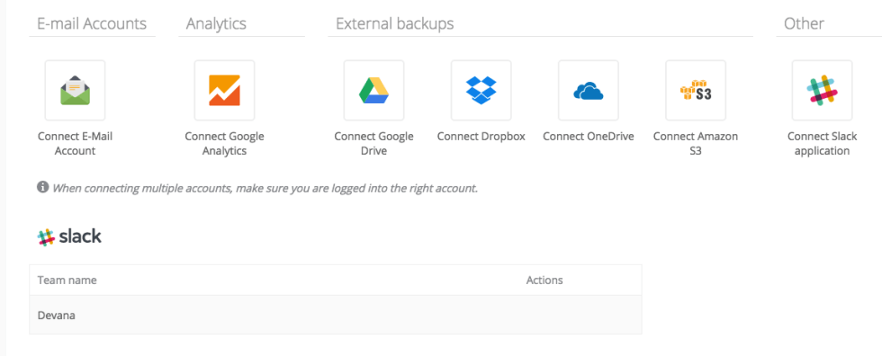 Intégration de ManageWP à Slack.