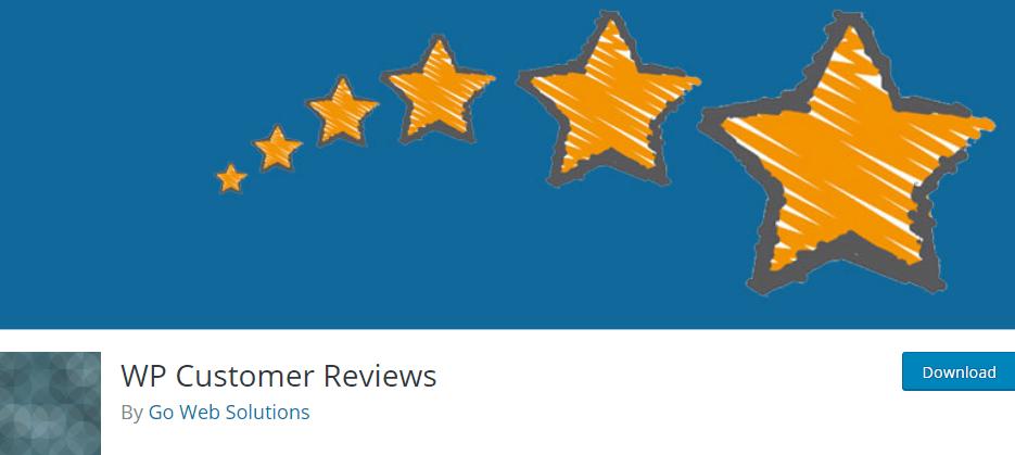 Le plugin WP Customer Reviews.