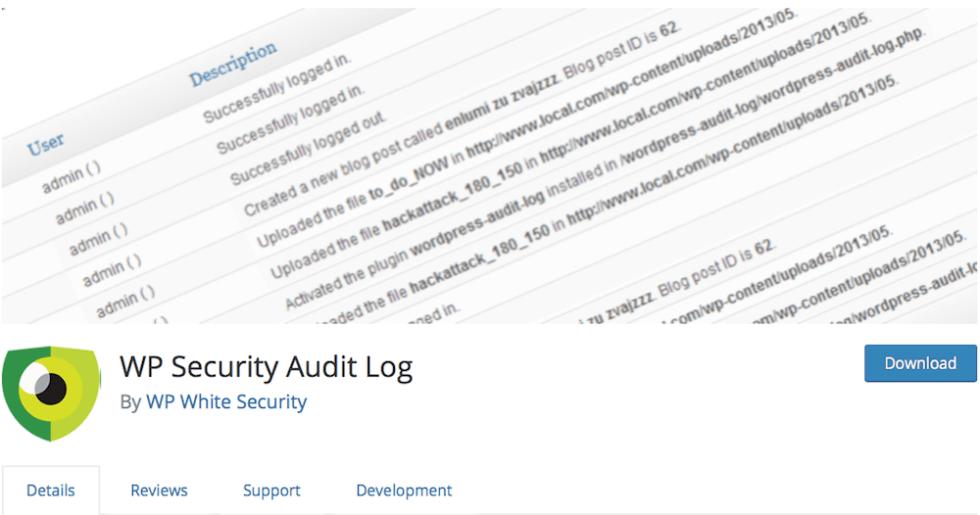 Journal de sécurité d'audit WP