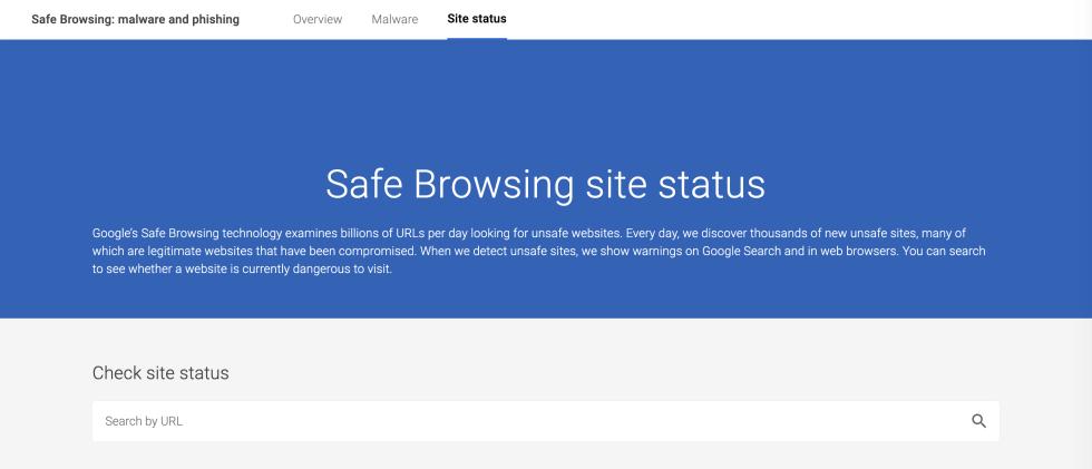 L'outil de navigation sécurisée de Google.