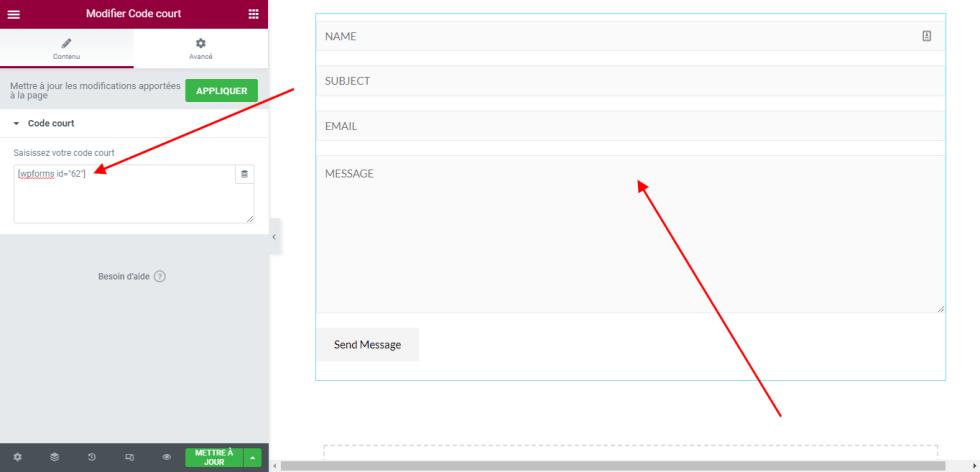ajouter un formulaire WPForms
