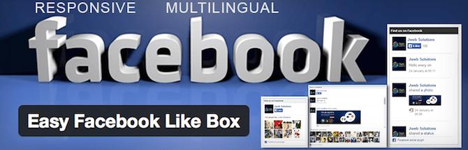 Facebook Like Box facile