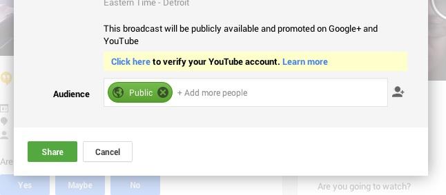 Valider YouTube