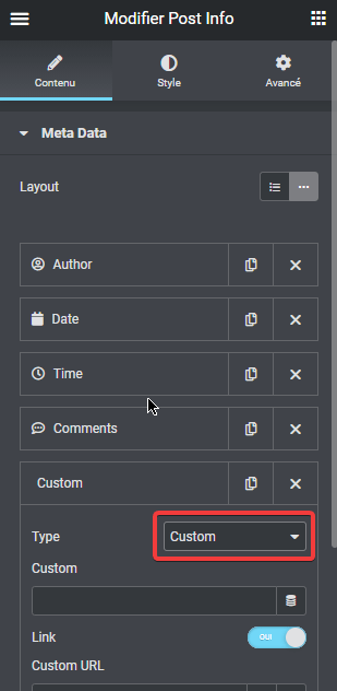 afficher la date de la dernière mise à jour dans Elementor