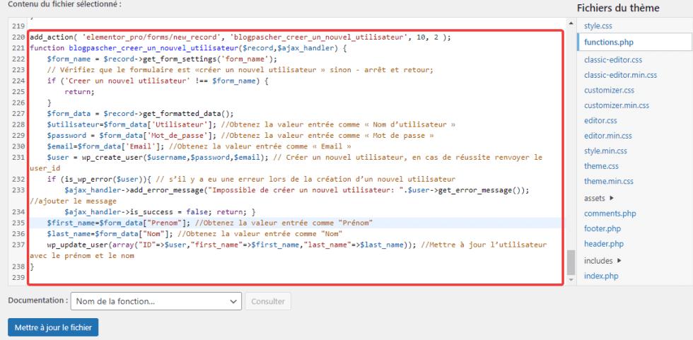 Comment créer une page d'inscription dans Elementor