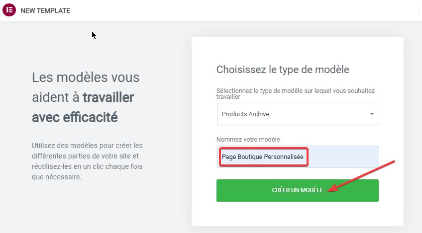 comment créer la page personnalisée d'une boutique WooCommerce avec Elementor
