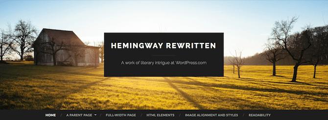 Thème réécrit Hemingway