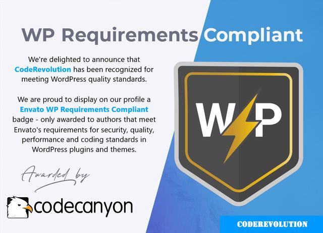 Badge conforme aux exigences WP