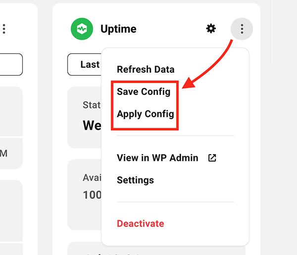 Où vous enregistrez et appliquez les configs.