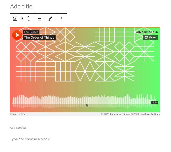 Soundcloud intégré