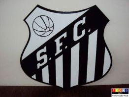"""placa decorativa time santos - Art's Fegas - Seu novo """"point"""" para Comunicação Visual"""