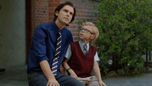 Eu acredito_foto_Pai e filho sentados conversando
