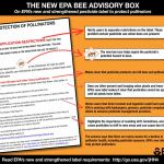 EPA Bee Advisory Label