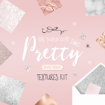 Pretty Textures Kit By Blog Pixie Marble Rose Gold Glitter Foil Textures