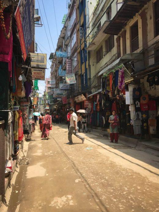 Thamel street, Kathmandu Nepal