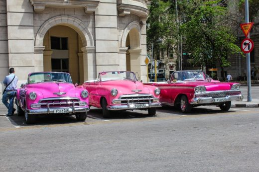 Old cars in the streets of Havana, Cuba