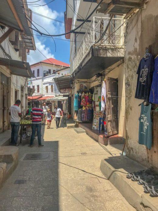 Shopping in Stone Town Zanzibar