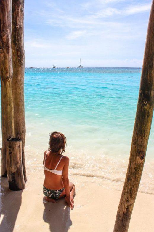 Zanzibar, me in Nungwi Beach