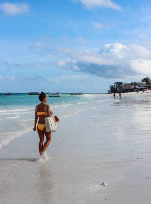 Me walking Zanzibar Nungwi Beach