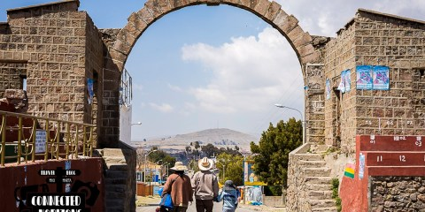 Border Crossing in Kasani: From Peru to Bolivia