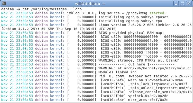 Pacote Loco para leitura de logs no Debian