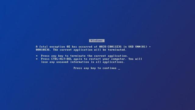 Windows Blue Screen - Tela da morte Papel de Parede/Wallpaper retrô
