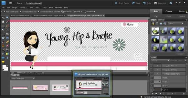 Blog Design Photoshop