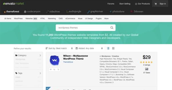 Wordpress Theme Marketplace