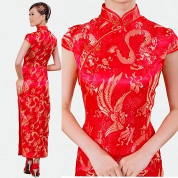 Chinese-style-traditional-vintage-liturgy-cheongsam-long-design-the-bride-married-cheongsam-dress-summer-fashion
