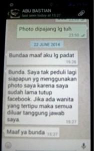 SMS dari Mas ABU ASLI