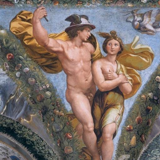 50a2-Mercurio e Phiche sull'Olimpo